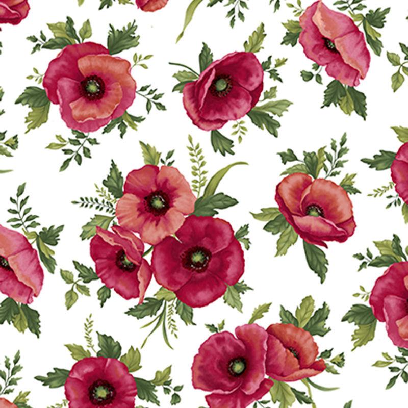 Poppy Panache Quilt Fabric