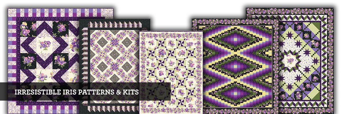 Irresistable Iris Quilt Kits