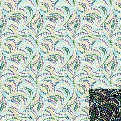 Beaded Swirls Fabric