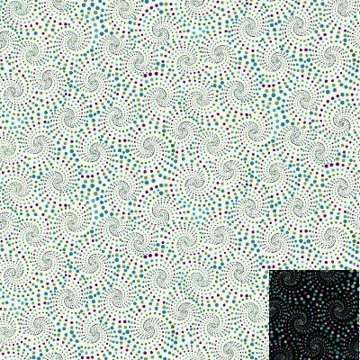 Dotted Spirals Fabric