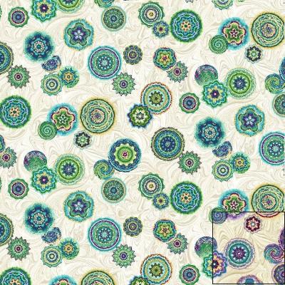 Medium Medallion Marble Fabric
