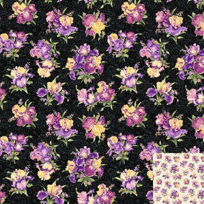 Iris Bouquets Quilt Fabric