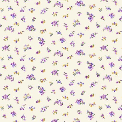 Fowerettes Cream Quilt Fabric
