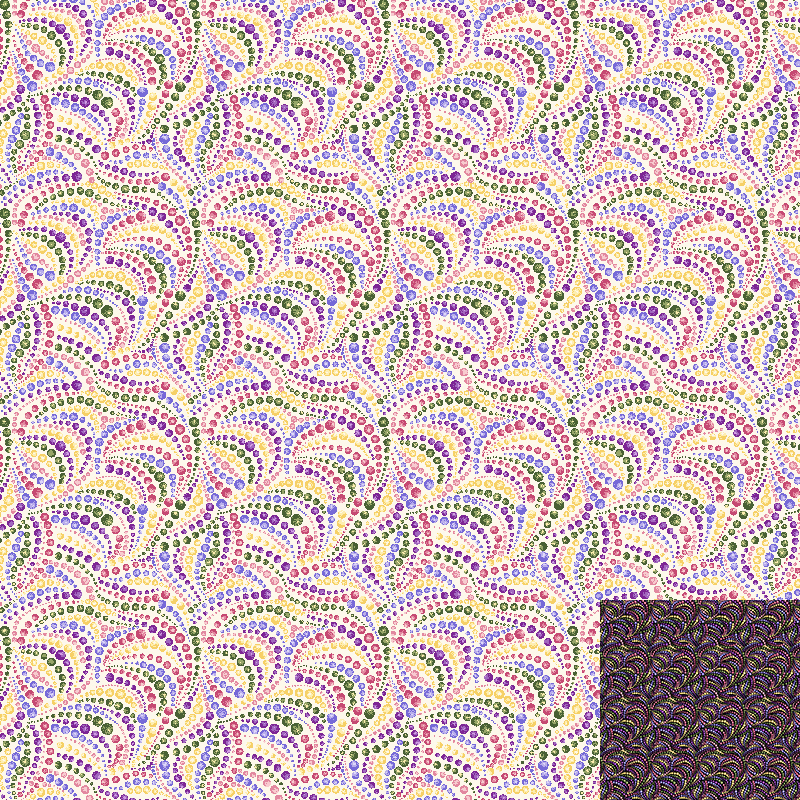 Dotted Swirls Quilt Fabric