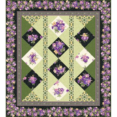 Abundantly Iris Quilt Patterns and Quilt Kits