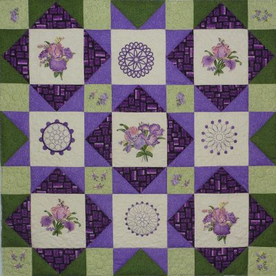 Iris you were here Quilt Pattern and Quilt Kit