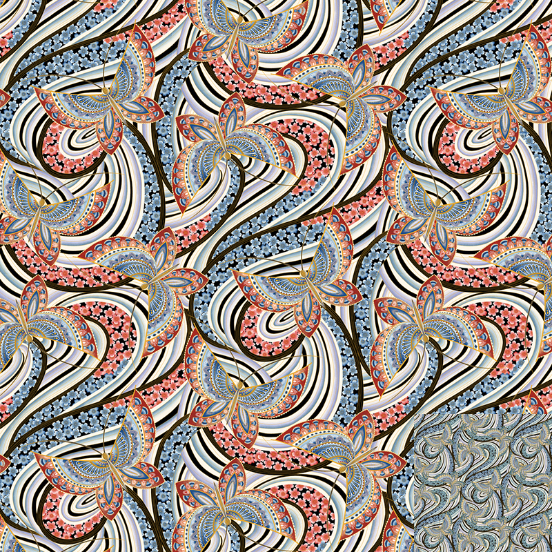 Fandango big butterfly Quilt Fabric