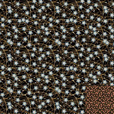 Golden Petal Gold Quilt Fabric