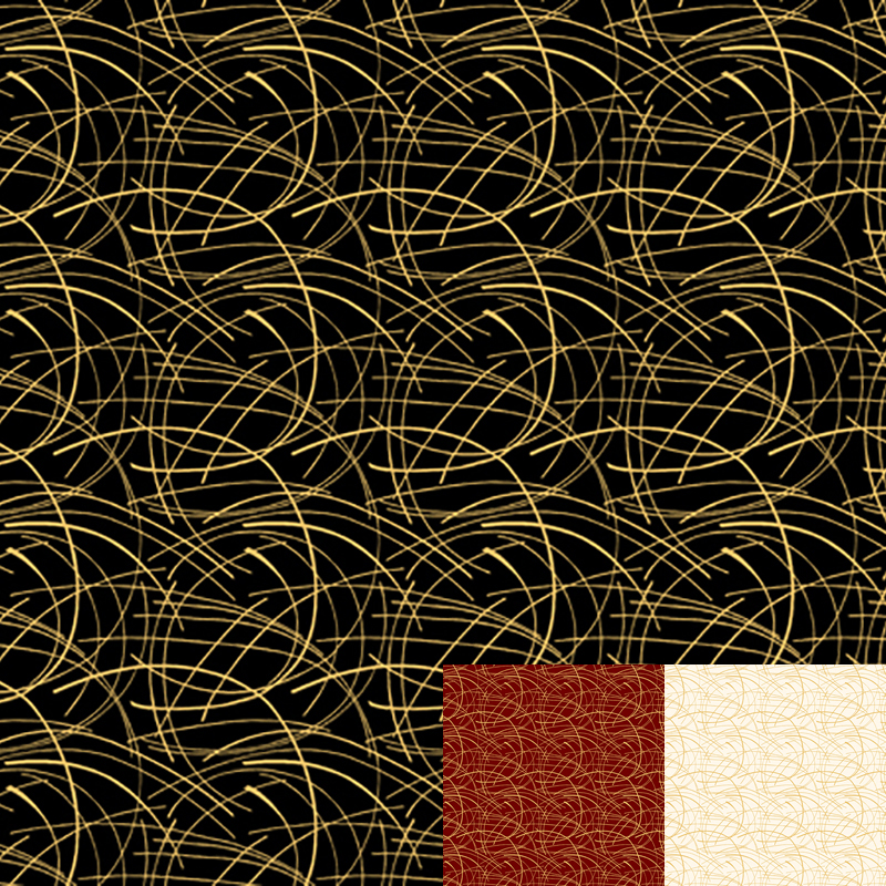 Golden Spray Gold Quilt Fabric