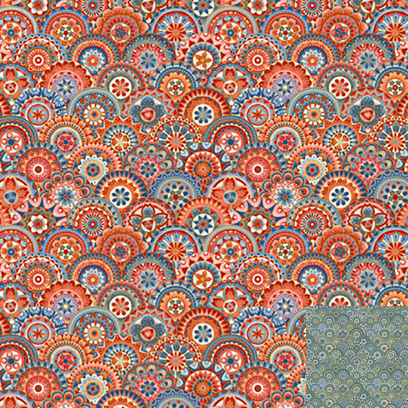Fandango Red Quilt Fabric