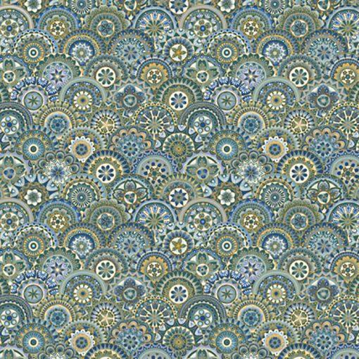 Fandango Teal Quilt Fabric