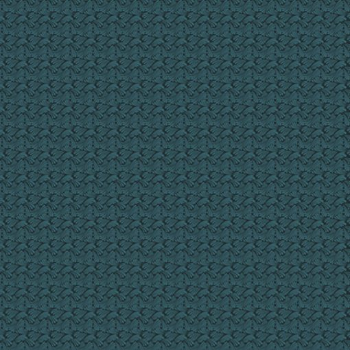 Swirling texture dk teal Quilt Fabric