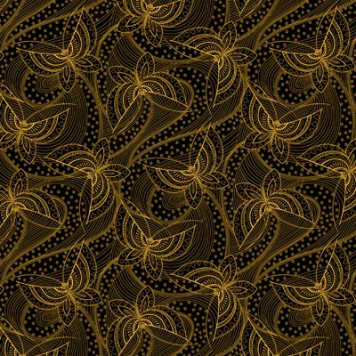 Gold butterfly Quilt Fabric