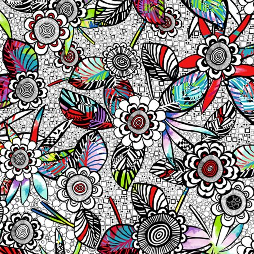 White anything Goes Quilt Fabric