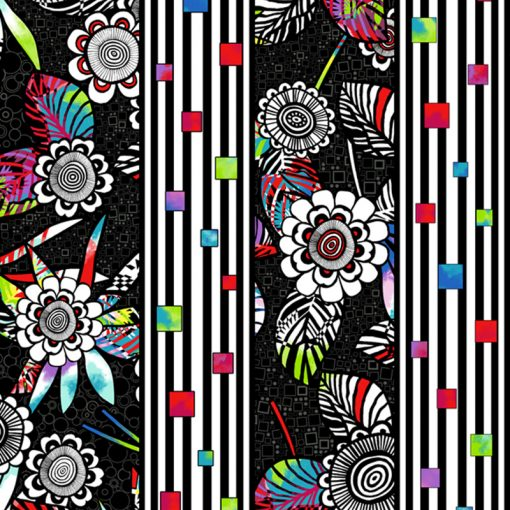 Black anything Goes Quilt Fabric