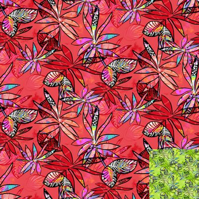 Red anything Goes Quilt Fabric