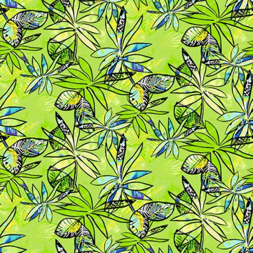 Lime anything Goes Quilt Fabric