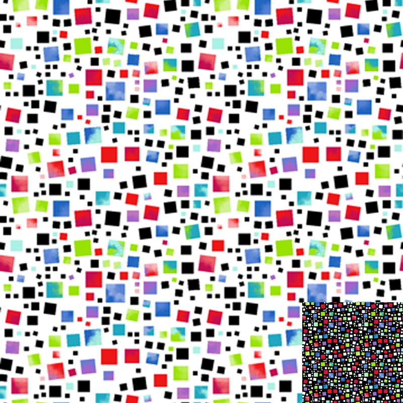 Multi Squares Quilt Fabric