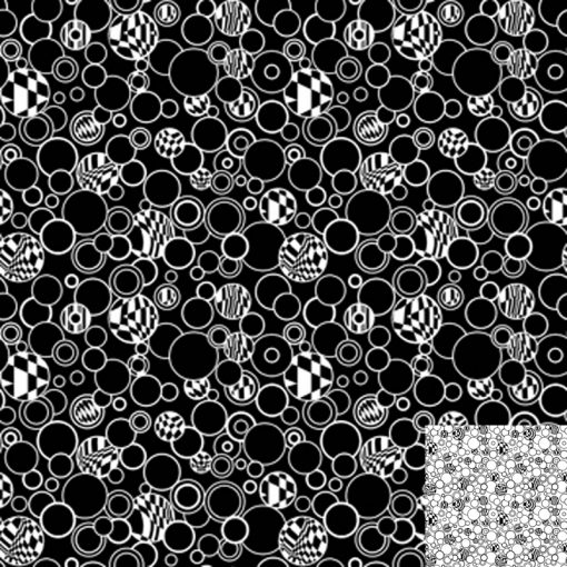 Black Bubbles Quilt Fabric