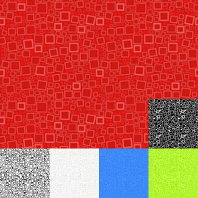 Red Squares Quilt Fabric