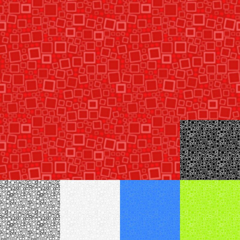Red Squares Quilt Fabric