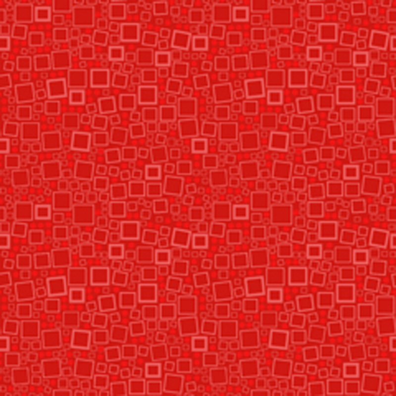 Red Squares and Dots Quilt Fabric