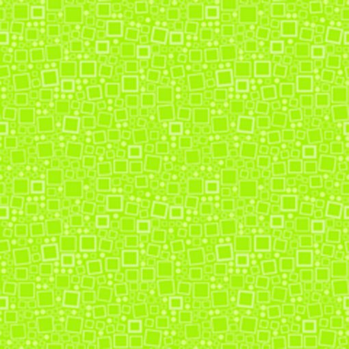Lime Squares and Dots Quilt Fabric