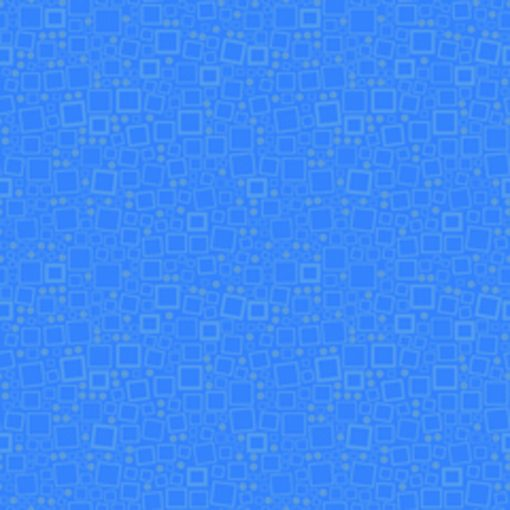 Blue Squares and Dots Quilt Fabric