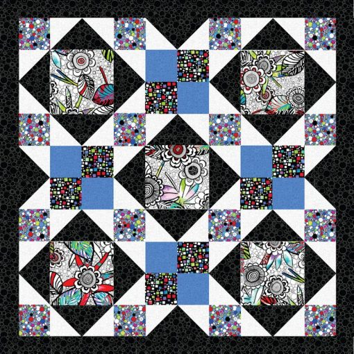 Afternoon Delight Blue Quilt Patterns and Quilt Kits