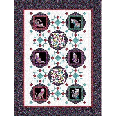 Cat-I-Tude Quilt Kits   Grizzly Gulch Gallery   Quilt ...