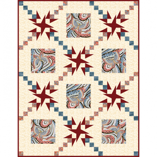 Radiance Fandango Lap Cover Quilt Patterns and Quilt Kits