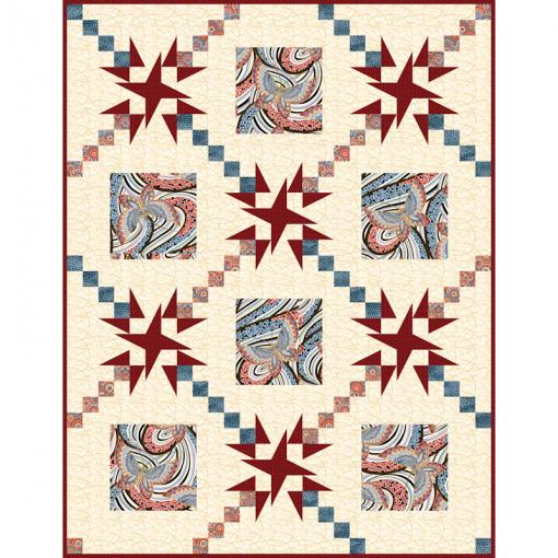 Radiance Fandango Lap Cover Quilt Patterns and Quilt Kits
