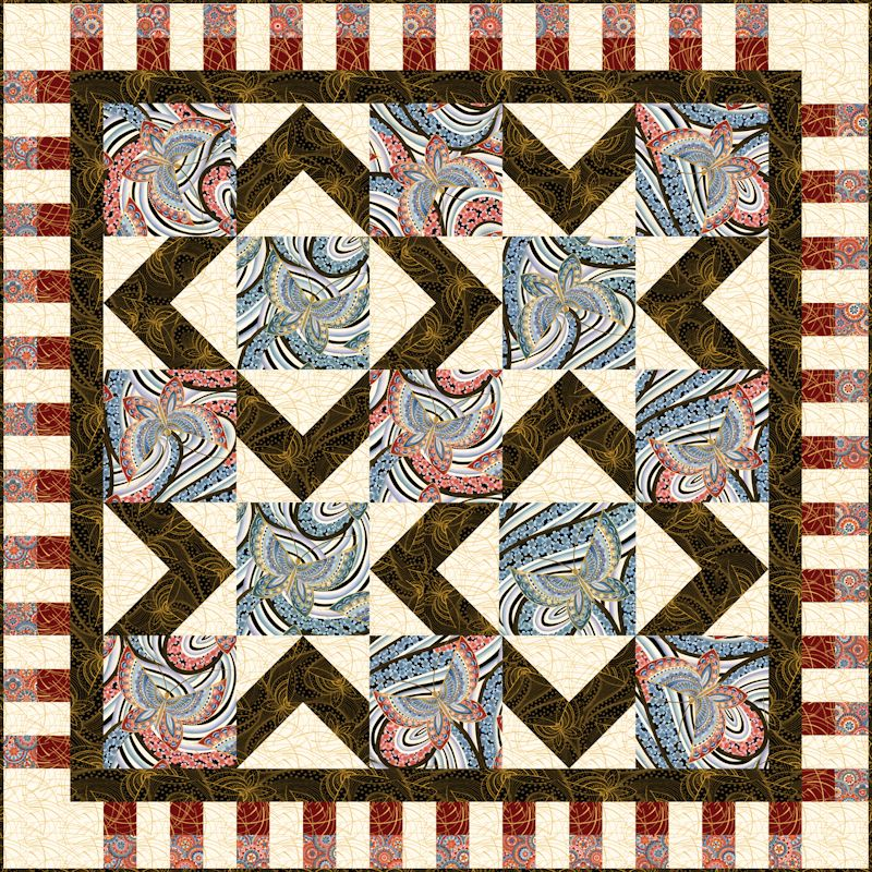 Stardom Fandango Quilt Patterns and Quilt Kits