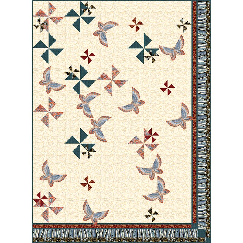 Tumbling Windmills Quilt Patterns and Quilt Kits
