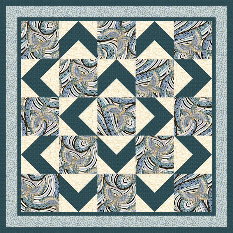 Walk About Blue Quilt Patterns and Quilt Kits
