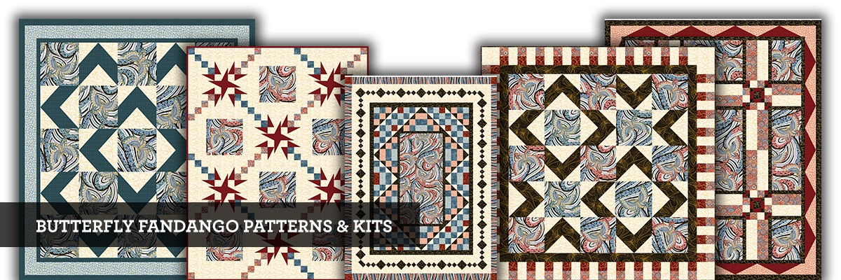 Butterfly Fandango patterns and kits