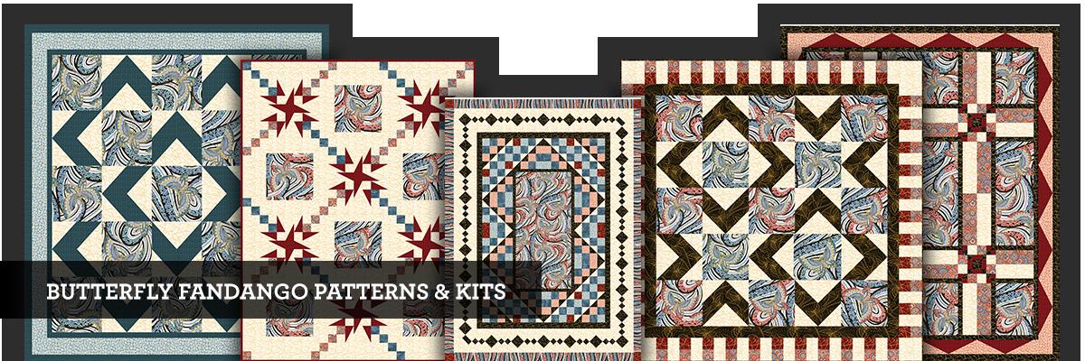 Butterfly Fandango patterns and kits