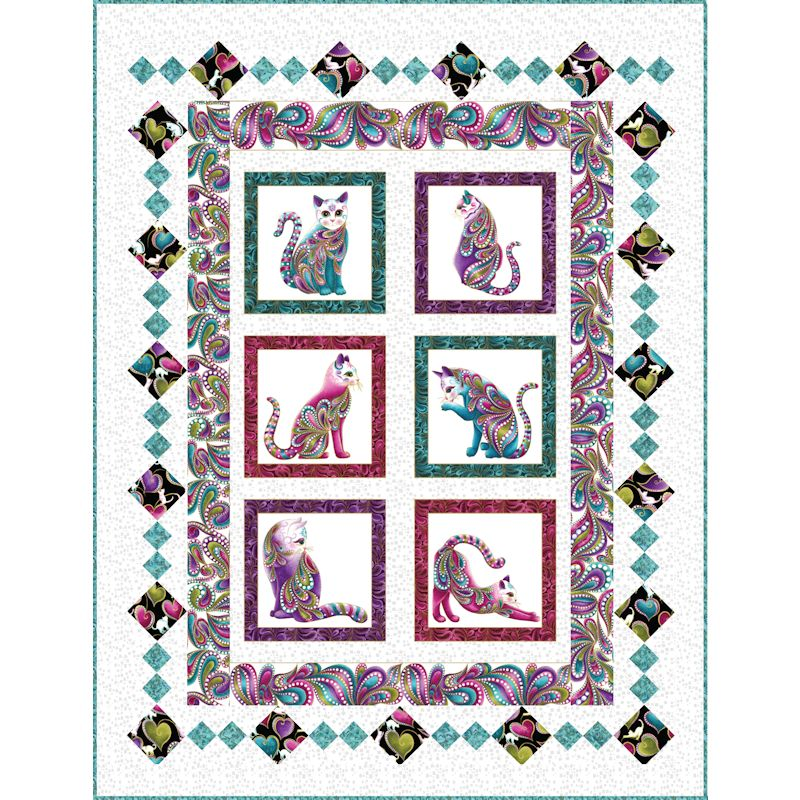 Aristocats Kit Grizzly Gulch Gallery Quilt Fabric