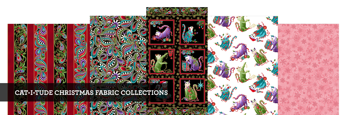 CAT-I-TUDE CHRISTMAS FABRIC COLLECTIONS