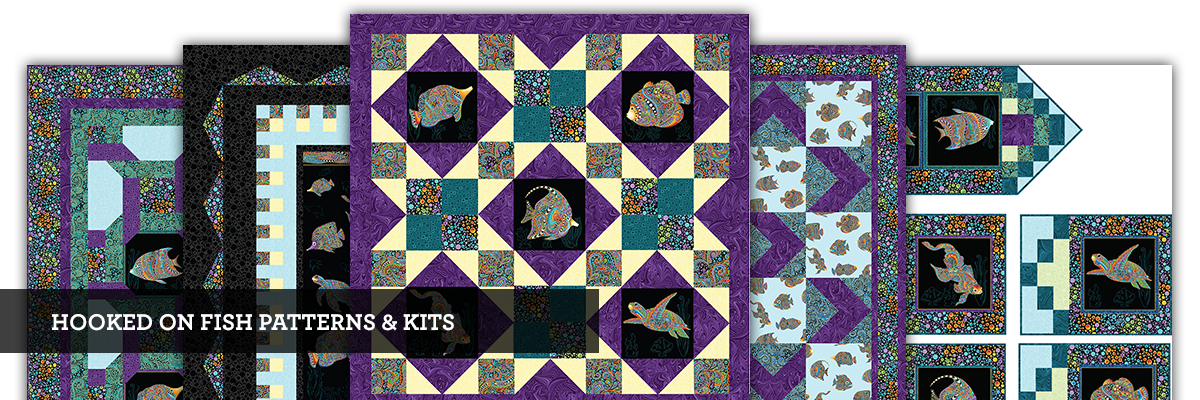 Hooked On Fish Fabric Patterns and Kits